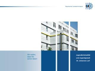 Altersstruktur der Tatverd�chtigen in % (Bayern 2012)