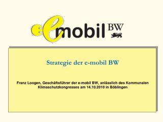Strategie der e-mobil BW   Franz Loogen, Gesch ftsf hrer der e-mobil BW, anl sslich des Kommunalen Klimaschutzkongresses