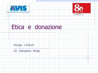 Etica  e  donazione