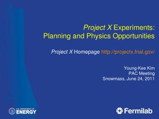 Project X  DOE Briefing