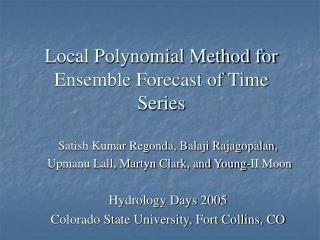 Local Polynomial Method for Ensemble Forecast of Time Series