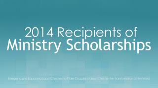 Ministry Scholarships