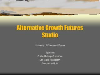 Alternative Growth Futures Studio
