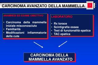 CARCINOMA DELLA MAMMELLA AVANZATO