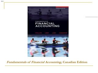 Fundamentals of Financial Accounting , Canadian Edition