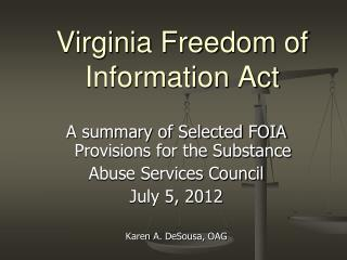 Virginia Freedom of Information Act