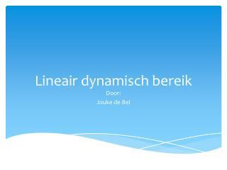 Lineair dynamisch bereik