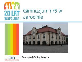 Gimnazjum nr5 w Jarocinie
