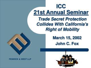 ICC  21st Annual Seminar