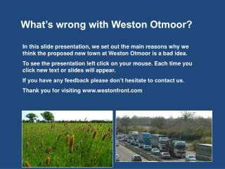 What's wrong with Weston Otmoor?