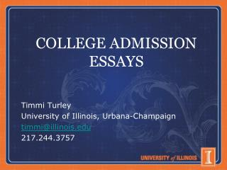 COLLEGE ADMISSION ESSAYS