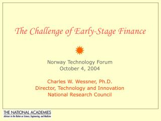 The Challenge of Early-Stage Finance