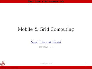 Mobile & Grid Computing