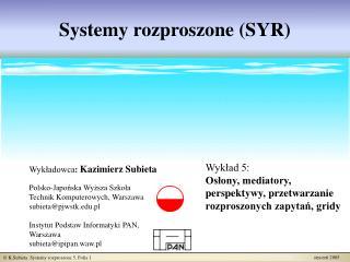Systemy rozproszone (SYR)
