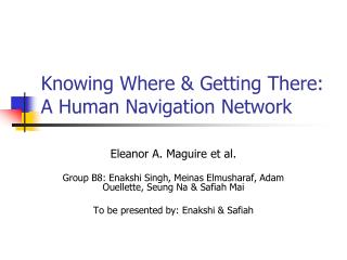 Knowing Where & Getting There: A Human Navigation Network