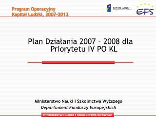 Program Operacyjny   Kapitał Ludzki, 2007-2013 -