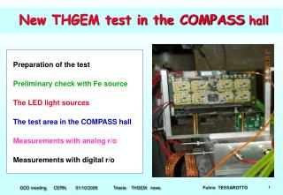 New THGEM test in the COMPASS  hall