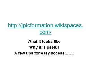 jpicformation.wikispaces/