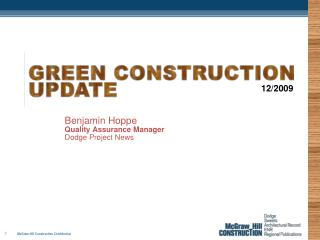 Benjamin Hoppe Quality Assurance Manager Dodge Project News