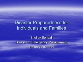 Disaster Preparedness for Individuals and Families