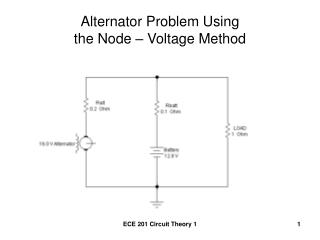 Alternator Problem Using  the Node – Voltage Method