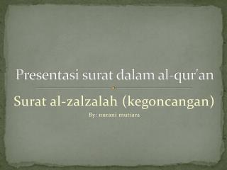 P resentasi surat dalam al-qur'an