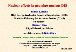 Nuclear effects in neutrino-nucleus DIS