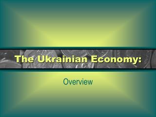 The Ukrainian Economy: