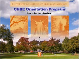 CHBE Orientation Program