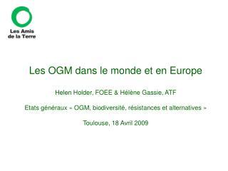1. OGM dans le monde