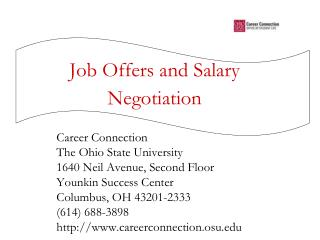 Job Offers and Salary Negotiation