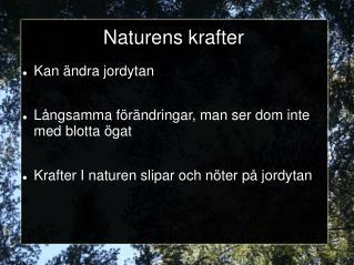 Naturens krafter