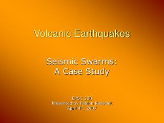 Volcanic Earthquakes