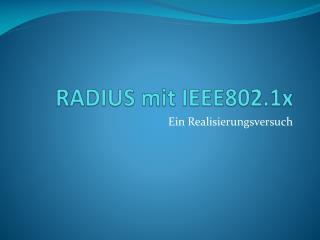 RADIUS mit IEEE802.1x