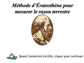 M thode d  ratosth ne pour mesurer le rayon terrestre
