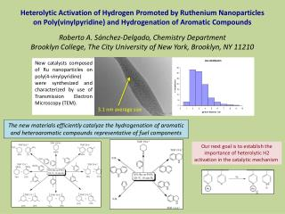 Heterolytic  Activation of Hydrogen Promoted by Ruthenium  Nanoparticles