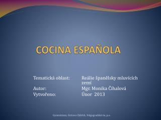 COCINA ESPA�OLA