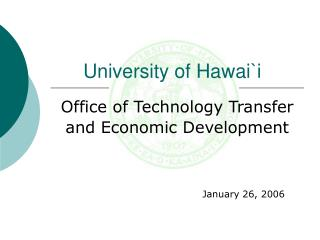 Office of Technology Transfer and Economic Development