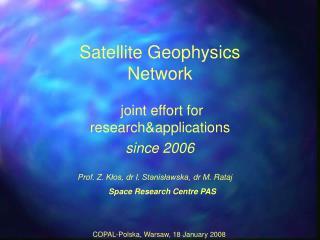 Satellite Geophysics Network