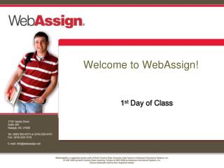 Welcome to WebAssign!