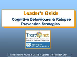 Leader's Guide Cognitive  Behavioural  & Relapse Prevention Strategies