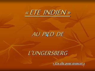 ETE  INDIEN    AU  PIED  DE  L UNGERSBERG