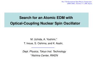 Search for an Atomic EDM with Optical-Coupling Nuclear Spin Oscillator