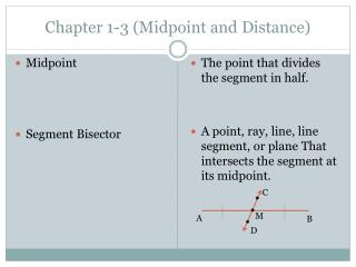 Chapter 1-3 (Midpoint and Distance)