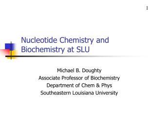 Nucleotide Chemistry and Biochemistry at SLU