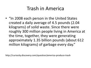 Trash in America