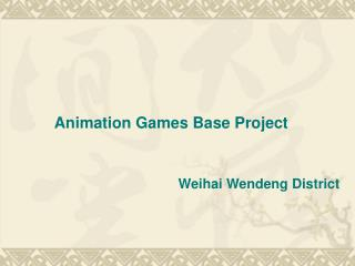 Animation Games Base Project