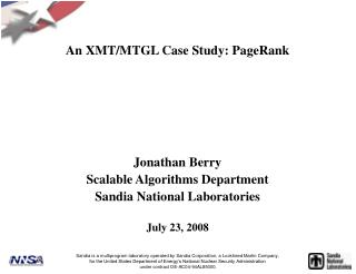 An XMT/MTGL Case Study: PageRank