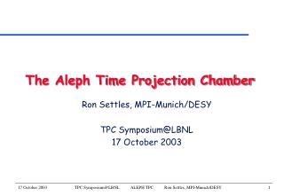 The Aleph Time Projection Chamber