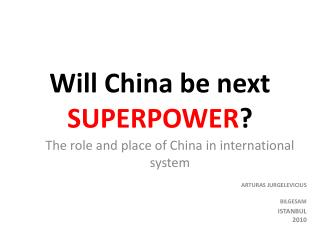 chinas emergence as a superpower
